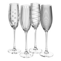 Mikasa Cheers 4-pc. Flute Set (Clear)