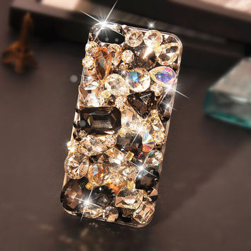 Studded Case IPhone Case Bling Luxurious Black Gem Diamond Stud Case For iPhone 4 Case iPhone 4S Case  iphone 4/4S case IPhone 5 Case