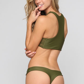 Tucker Bikini Bottom in Olive
