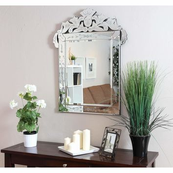 Venetian Rectangular Bathroom Mirror (Silver)