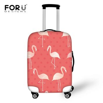 "FORUDESIGNS Pink Flamingo Pattern Travel Accessories Thick Elastic Luggage Dustproof Covers for 18""-30"" Case Protector Cover"