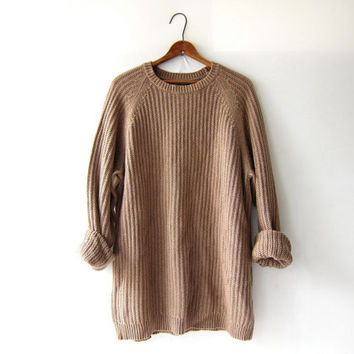 vintage light brown oatmeal sweater. from Dirty Birdies Vintage
