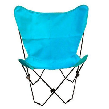 Algoma Net Company 405351 Black Butterfly Chair with Teal Cover
