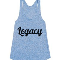 Legacy-Female Athletic Blue Tank