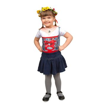Realistic Costume Youth Dirndl Faux Shirt