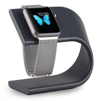 VONL8T Apple Watch Stand, Aluminum Sturdy Platform Holder for Apple Watch Series 1 2 3 / 42mm / 38mm - Black