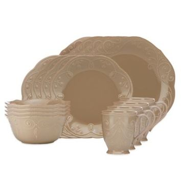 Lenox® French Perle 16-Piece Dinnerware Set in Latte