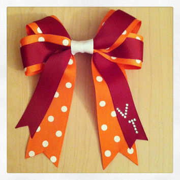 Virginia Tech University Hair Bow - Hokies