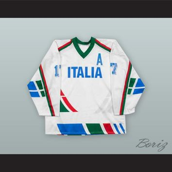 Gates Orlando 17 Italy National Team White Hockey Jersey