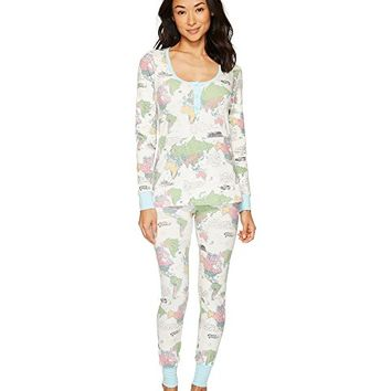 BedHead Long Sleeve Stretch Knit Henley Pajama Set