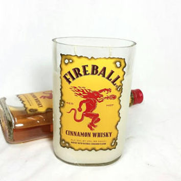 Fireball Cinnamon Whiskey Bottle Soy Candle/Cinnamon Sticks Scent/Recycled Liquor Bottle/Scented Candles/Red Hot
