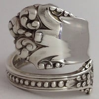 Size 10 Vintage Sterling Silver Reed & Barton Spoon Ring