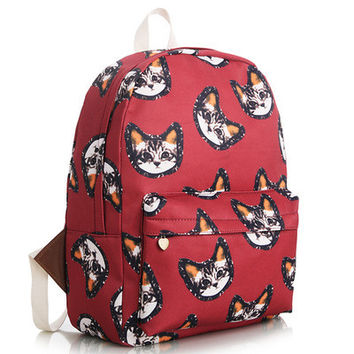 On Sale Back To School Comfort Stylish Hot Deal Casual College Korean Lovely Floral Animal Stripes Canvas Backpack [8097649095]