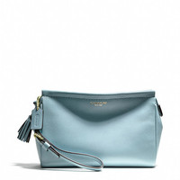 legacy large wristlet in leather