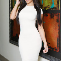 Kaily Ivory Short Sleeve Dress