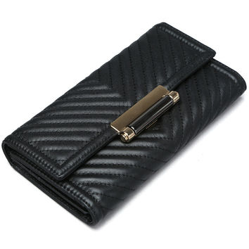 Ladies Leather Embroidery Bags Stylish Casual Wallet [9338152455]