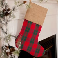 Christmas Stocking in Classic Plaid Print