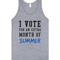I vote for an extra month of summer-Unisex Athletic Grey Tank