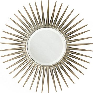 Quick Overview:Silver Leaf Starburst Mirror