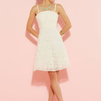 Display It With Sweets Lace Dress in Ivory | Mod Retro Vintage Dresses | ModCloth.com