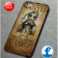 League of Legend Jinx wanted for iphone, ipod, samsung galaxy, HTC and Nexus phone case