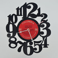 Vinyl Record Clock (artist is Johnny Cash)