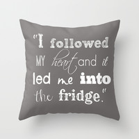The Fridge Throw Pillow by Urlaub Photography