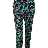 LE3NO Womens Casual Printed Jogger Pants with Pockets (CLEARANCE)