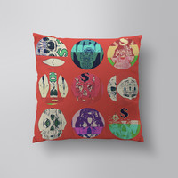 Throw Pillows for Couches / Skull Glitch by Josh Money