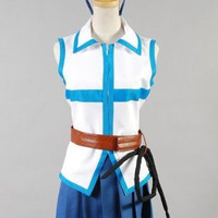 Fairy Tail Lucy Heartfilia Cosplay Costume*Custom-made