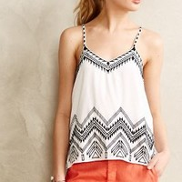 Stitched Ikat Tank by Love Sam White