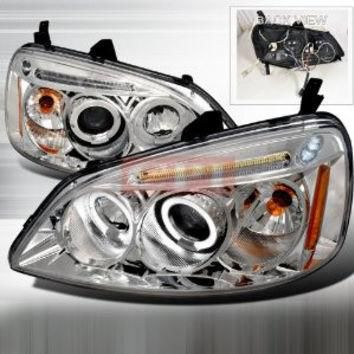 HONDA 01-03 HONDA CIVIC CCFL PROJECTOR HEADLIGHT performance conversion kit 1 SET RH