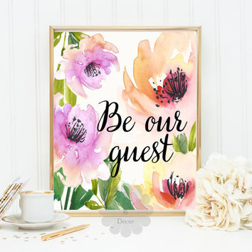 image regarding Be Our Guest Printable known as Be our visitor printable estimate calligraphy against DaisyandDecor upon