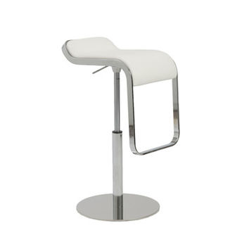 Eurostyle Freddy Adjustable Bar-Counter Stool in White & Chrome