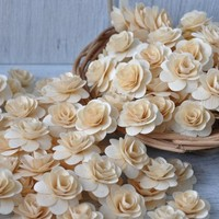 Roses made of Birchwood Shavings