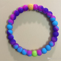Shopnelo New Arrival Lokai  Best For Thanksgiving Gift (mix purple and blue  color lokai ).