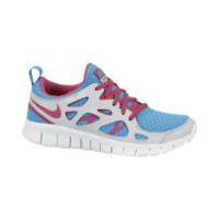 Nike Free Run+ 2.0 3y-7y Girls' Running Shoes - Vivid Blue