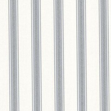 Brewster Wallpaper 302-66834 Lineage Blue Stripe