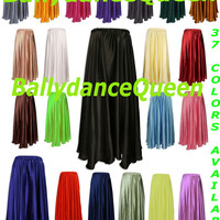 Skirts, Satin Skirts, Belly Dance Skirts, Tribal Skirts, Gypsy Skirts, Full Circle Skirts Gypsy Tribal Boho Belly Dance Costume in 36 Colors