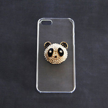Galaxy Note Panda Case Note 2 & 3 Samsung S5 S4 S3 Panda Case iPhone 5 5s 5c Animal Case Rhinestone Cases Luxurious iPhone Cases Clear