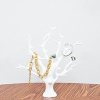 Sea Coral Jewellery Stand in White - Urban Outfitters