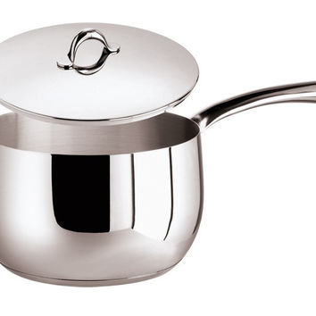 Kikka Saucepan, 1 handle, stainless steel and  Lid, 38 ounce