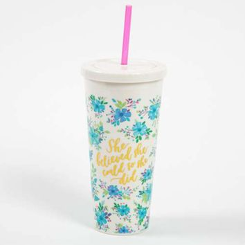Natural Life She Believed On the Go Cup