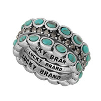 Lucky Brand Turquoise Stack Ring Set