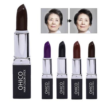1 Pcs Hair Dye Stick White Hair Coloring Black Purple Coffee Dark Brown Hair Cream Disposable Hair Drops 4 Colors T35