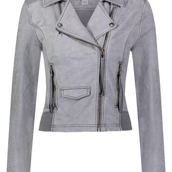 Ashley Suede French Terry Jacket