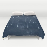 Wishing Stars Duvet Cover by Paula Belle Flores