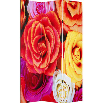 "Screen Gems Daisy And Rose Screen 72"" Room Divider"