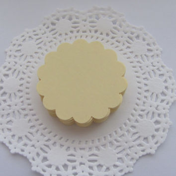 Scalloped Circle Die Cuts, Wedding Tree, Favor Tags