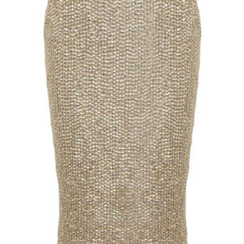 Gold sequin pencil skirt - Skirts - Apparel